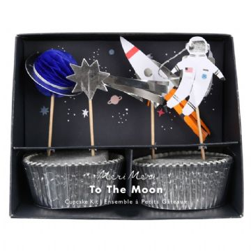 To The Moon Space Party Cupcake Kit